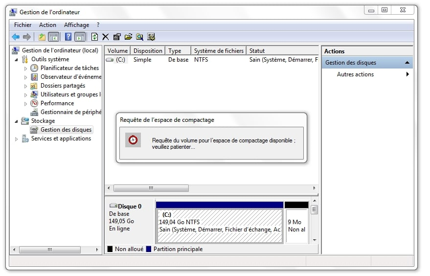Partitionner son Disque Dur sous vista seven windows 8 et 10 sospc