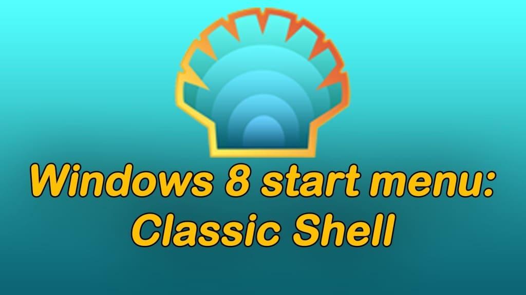 Ajouter le bouton démarrer au bureau de Windows 8