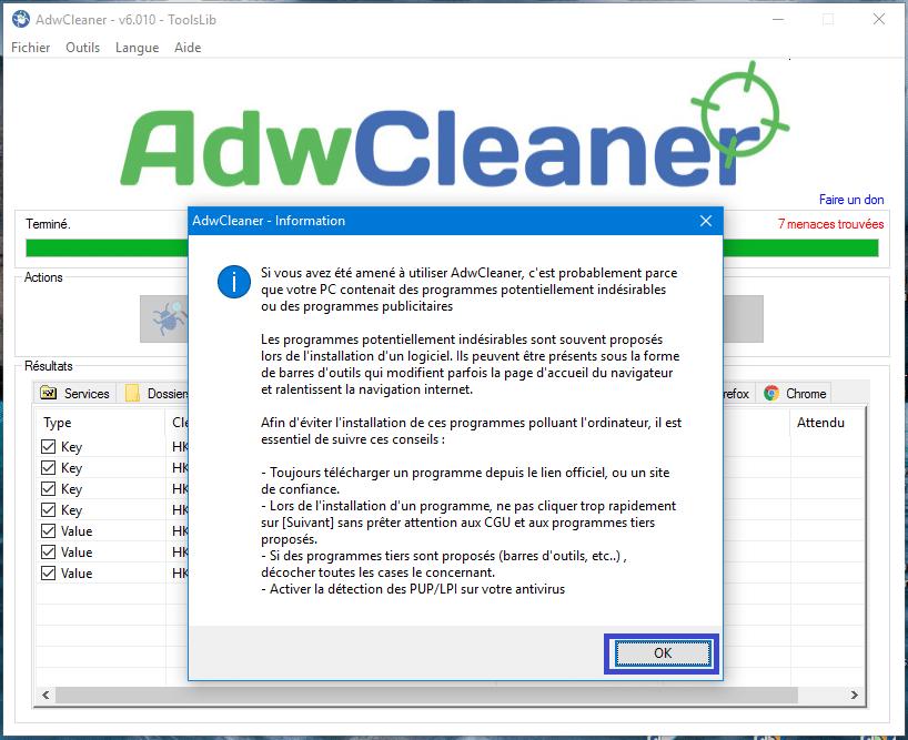 adwcleaner version 6 tutoriel sospc.name 8