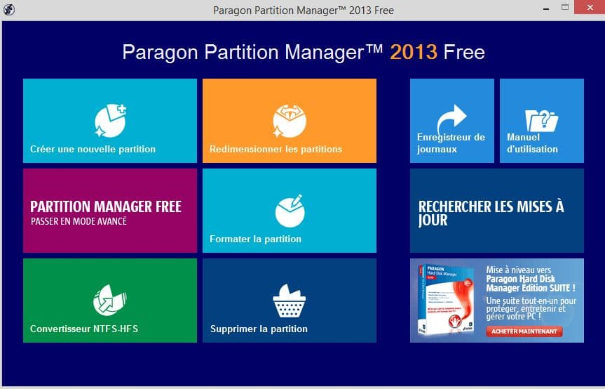 Paragon Partition Manager Free.