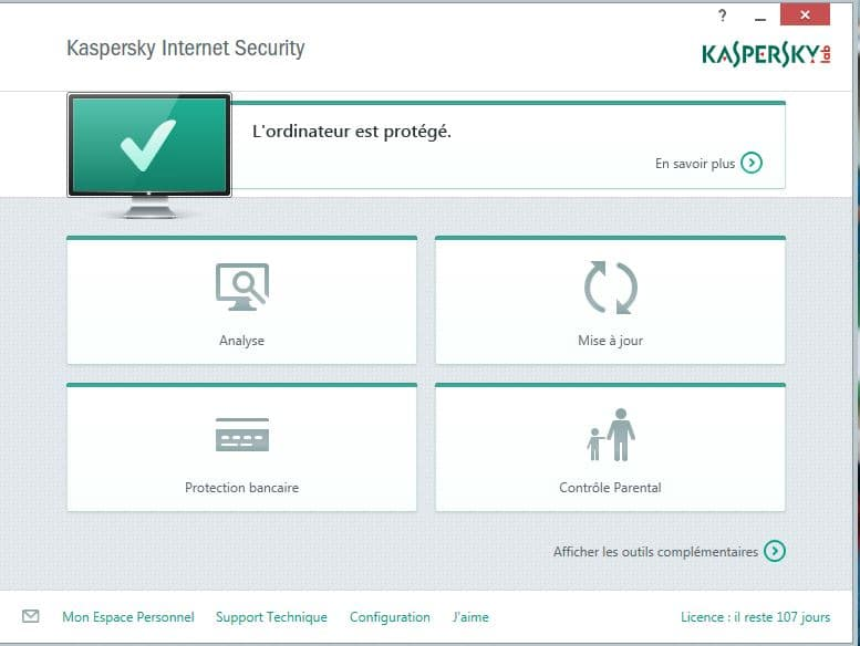 interface kaspersky internet security