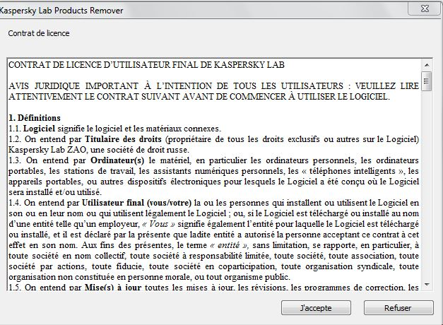 kav remover contrat