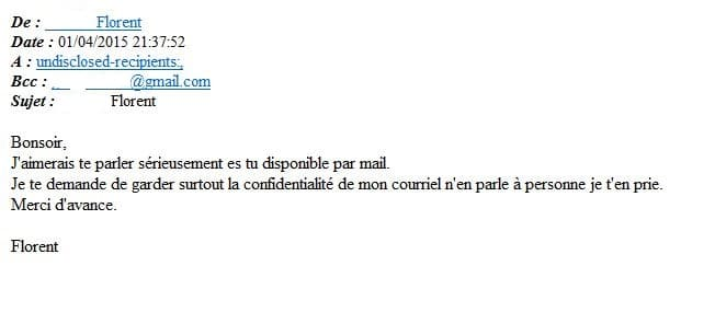 courrier mail suspect