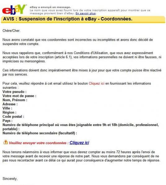 faux mail ebay