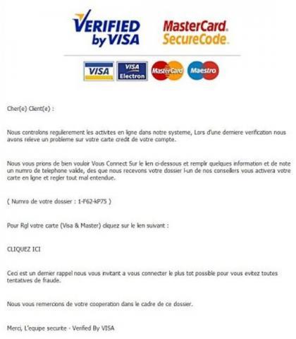 faux mail visa