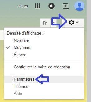 gmail trouver date de création compte