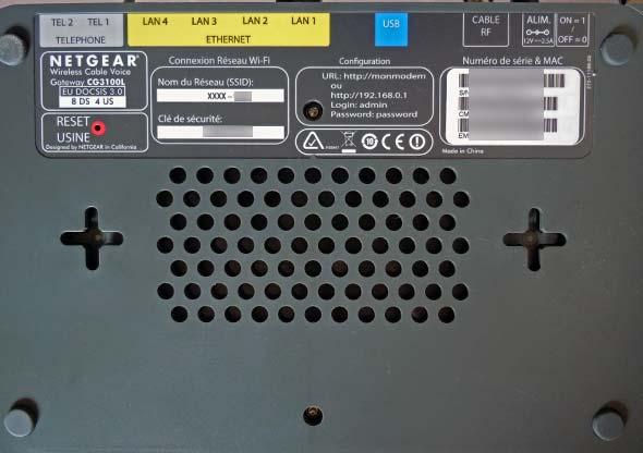 modem netgear aérations