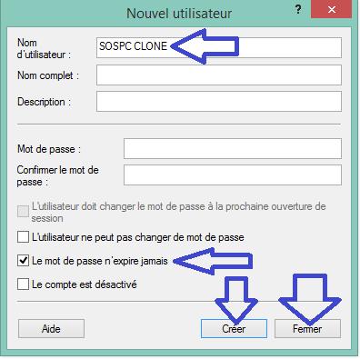 ARTICLE CLONAGE COMPTE UTILISATEUR W8.4