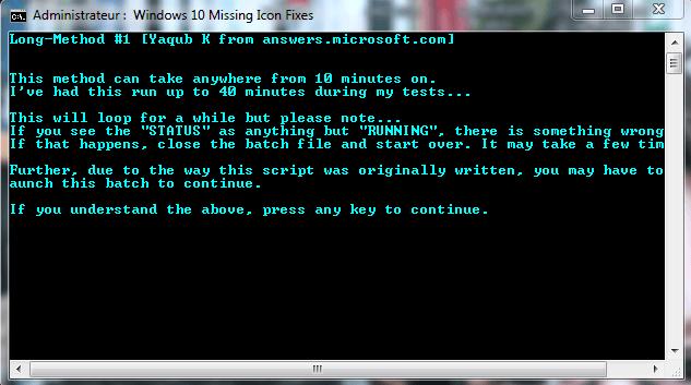 activer icône réservation windows 10.8