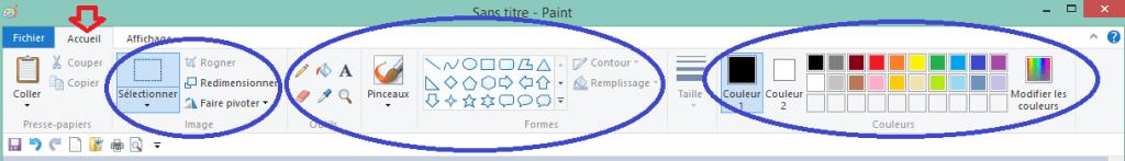 capture écran usage paint détail tableau de bord