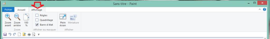 capture écran usage paint détail tableau de bord.affichage