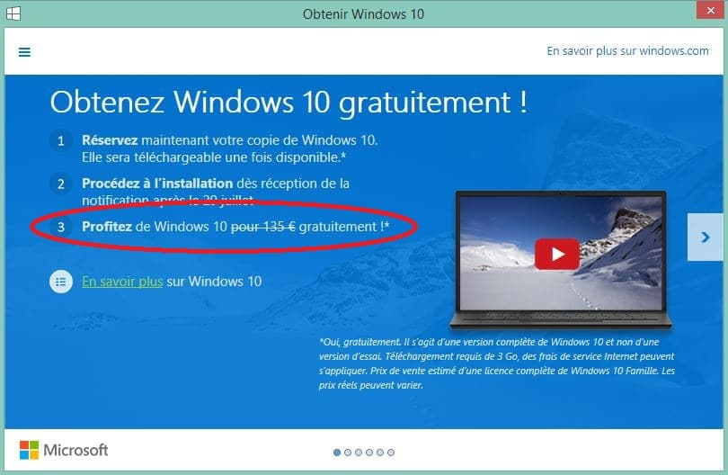 prix windows 10
