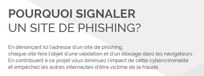 signaler phishing