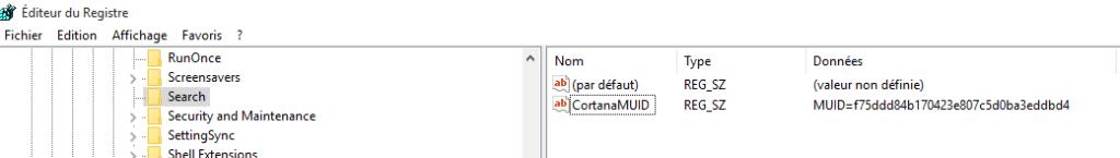 windows 10 désactiver recherche web barre des taches.2ème méthode.2