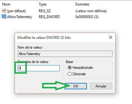 confidentialité windows 10.9