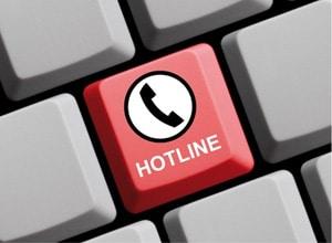 Hotline anrufen