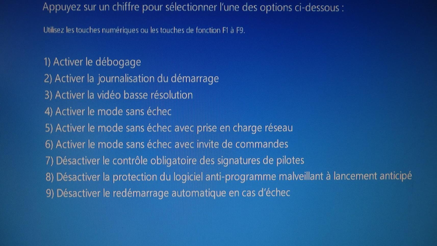 Windows 10 : démarrer en mode sans échec lorsque le système est inaccessible.