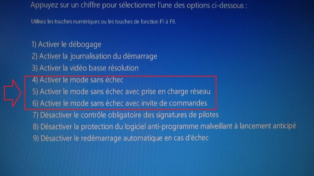 Démarrer en mode sansd echec avec Windows 8 ou 10 sospc.name.choix