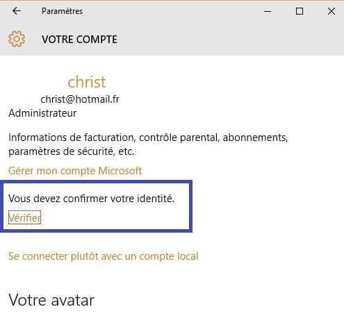identification suite changement mot de passe w8-10 sospc.name