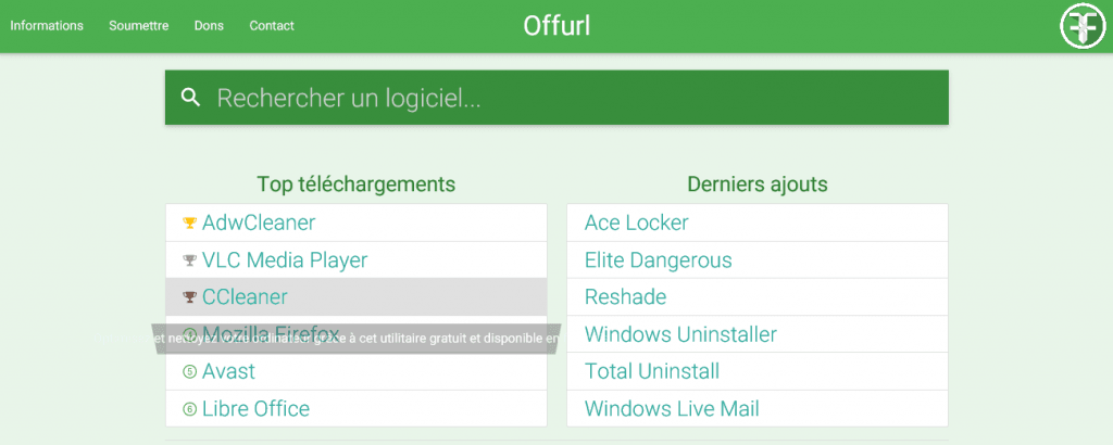 offurl nouvelle version sospc.name
