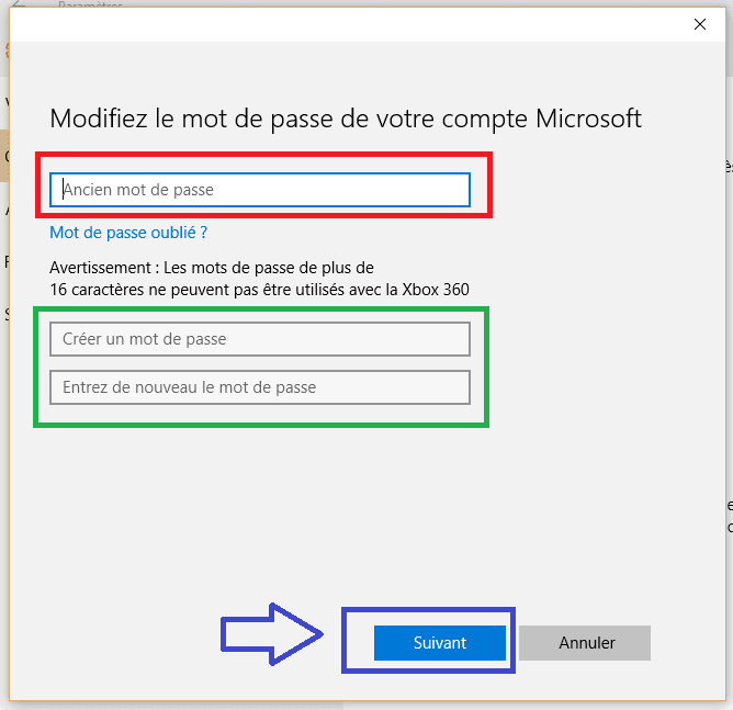 windows 10 changer mot de passe sospc.5