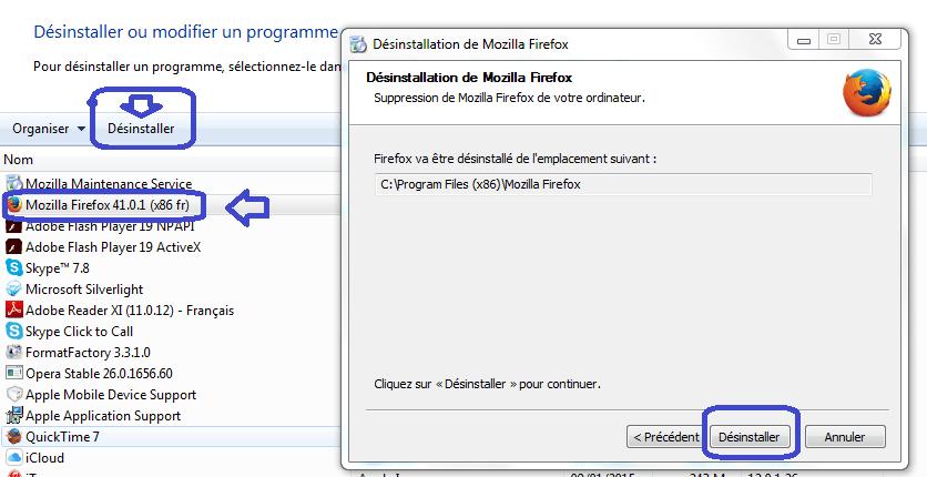 Firefox Erreur lors de la lecture du fichier de configuration.2