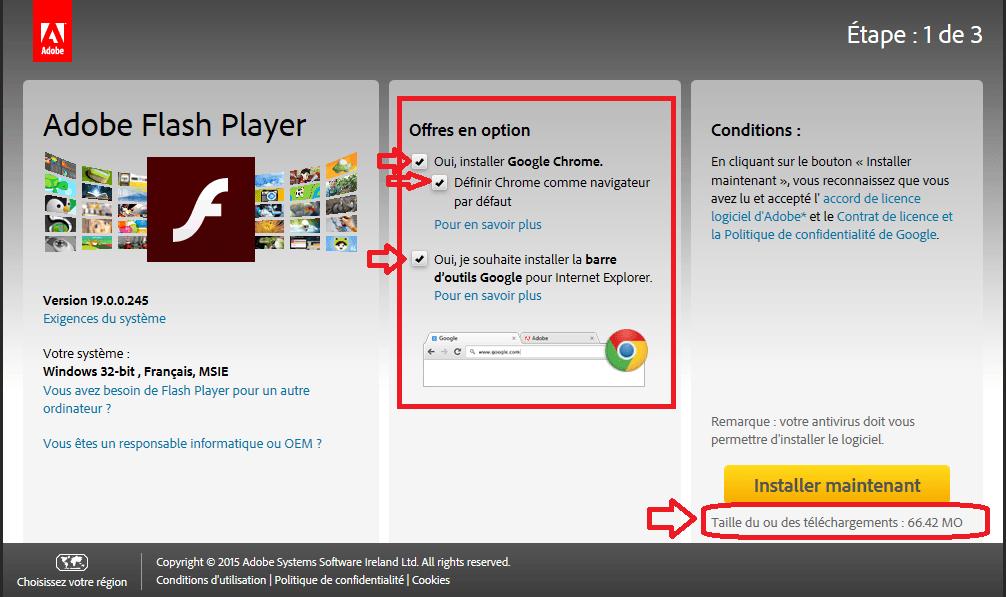mise à jour flash player sospc.name