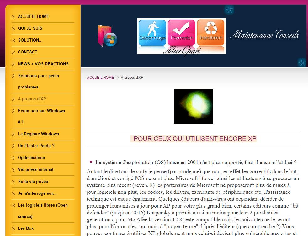 tutoriel clearly exemple de site sospc.name avant