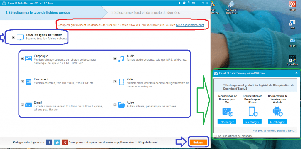 Data Recovery Wizard Free 9.8 tutoriel UTILISATION A .sospc.name