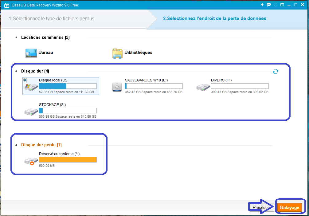 Data Recovery Wizard Free 9.8 tutoriel UTILISATION B .sospc.name