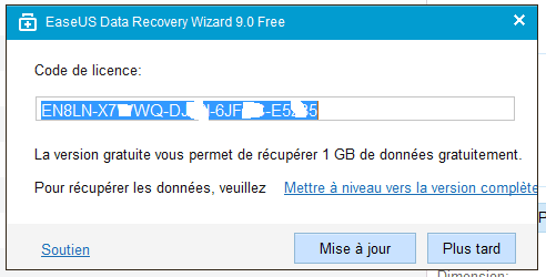 Data Recovery Wizard Free 9.8 tutoriel UTILISATION E.sospc.name