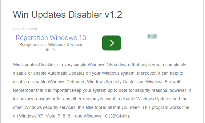 Win Updates Disabler tutoriel sospc.name 11