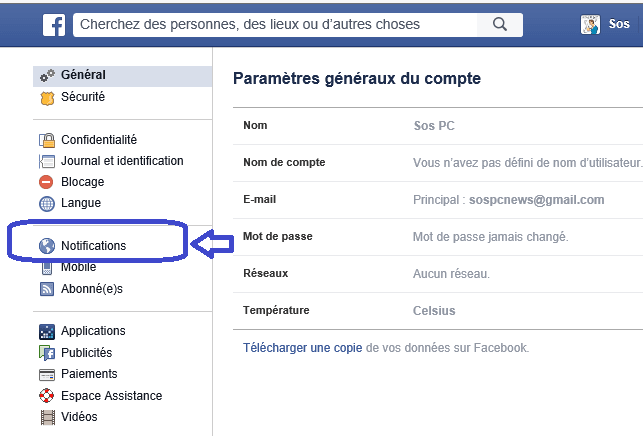 facebook notifications coin écran sospc.name.2