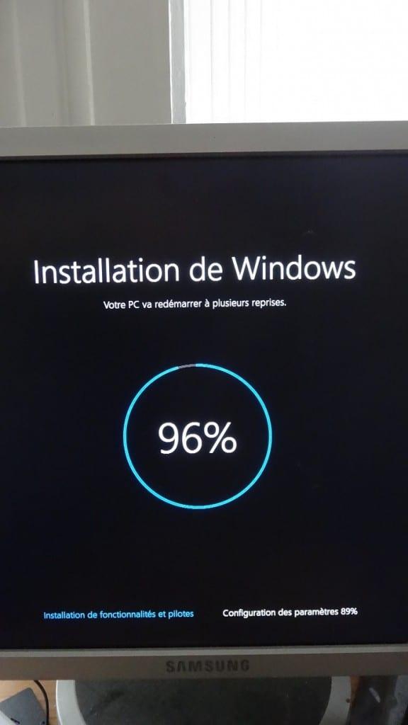 sospc réinitialiser windows 10 14