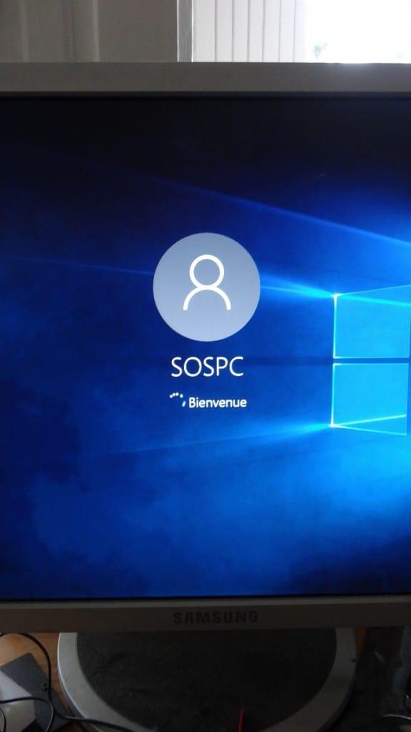 sospc réinitialiser windows 10 16