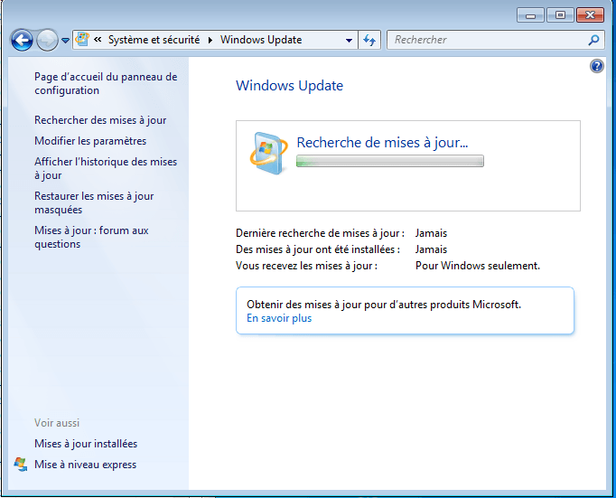 windows 7 windows update ne trouve pas de mises à jour sospc.name e