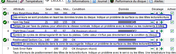 HARD DISK SENTINEL PRO COMMENTAIRES D'ATTRIBUTS 2 SOSPC