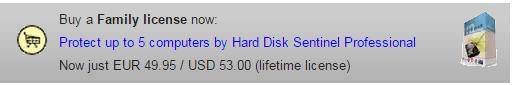 HARD DISK SENTINEL family licence SOSPC