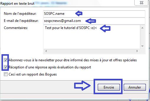 envoyer rapport sospc.name hard disk sentinel pro 2