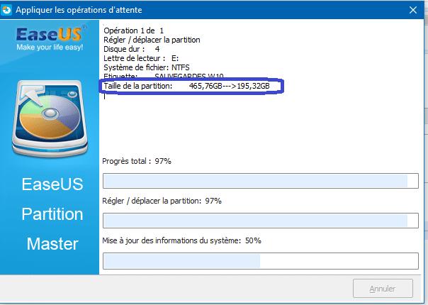 sospc easeus tutoriel d'utilsation partition master 8