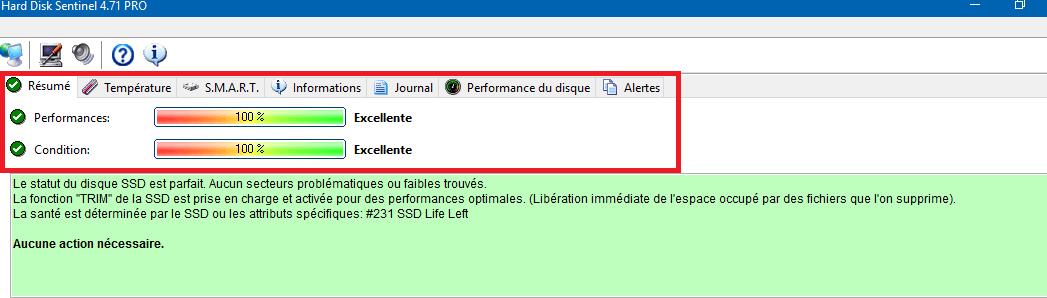 sospc.name hard disk sentinel pro tableau de bord détaillé champs rouge tutoriel