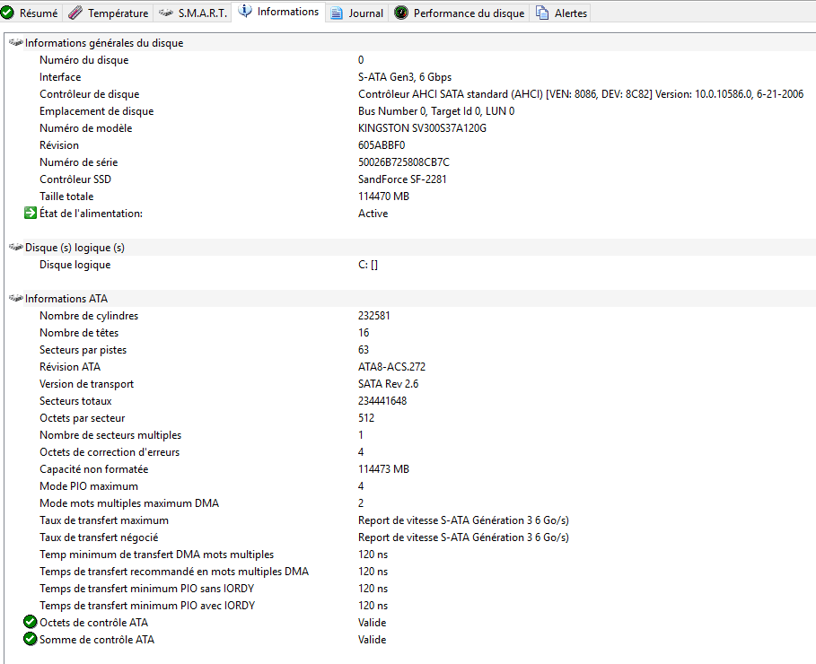 sospc.name hard disk sentinel pro tableau de bord détaillé onglets 4 informations tutoriel
