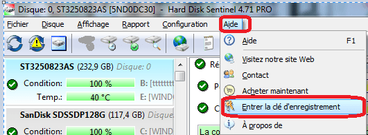 tutoriel hard disk sentinel pro enregistrement.sospc.name 2