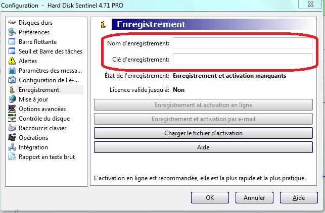 tutoriel hard disk sentinel pro enregistrement.sospc.name 3