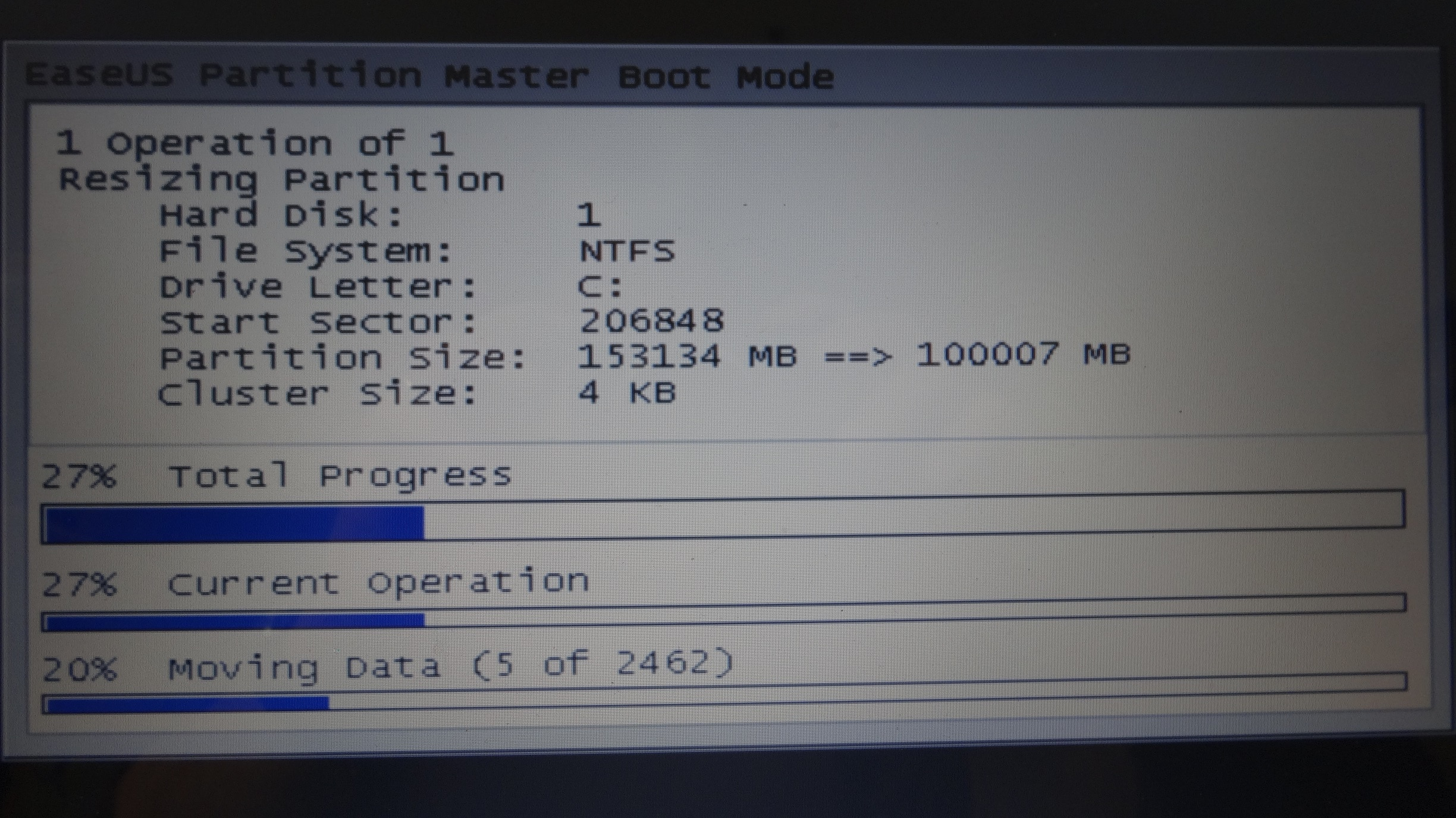 tutoriel partition master MODIF AVEC REDEMARRAGE 2