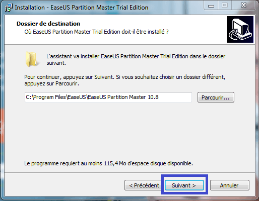 tutoriel partition master professional 7