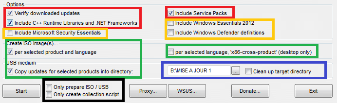 WSUS OFFLINE details options sopsc.name tutoriel