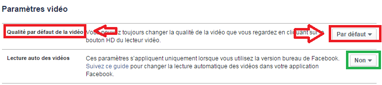 facebook désactiver démarrage automatique vidéos 5