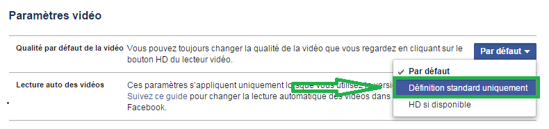 facebook désactiver démarrage automatique vidéos 6