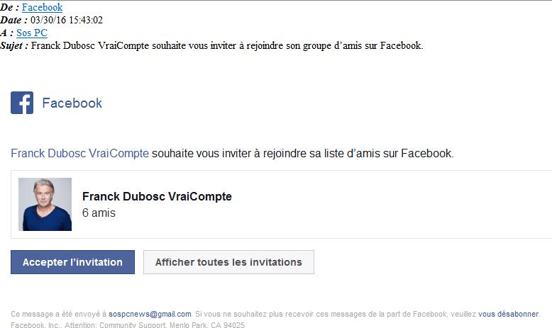 faux compte facebook franck dubosc